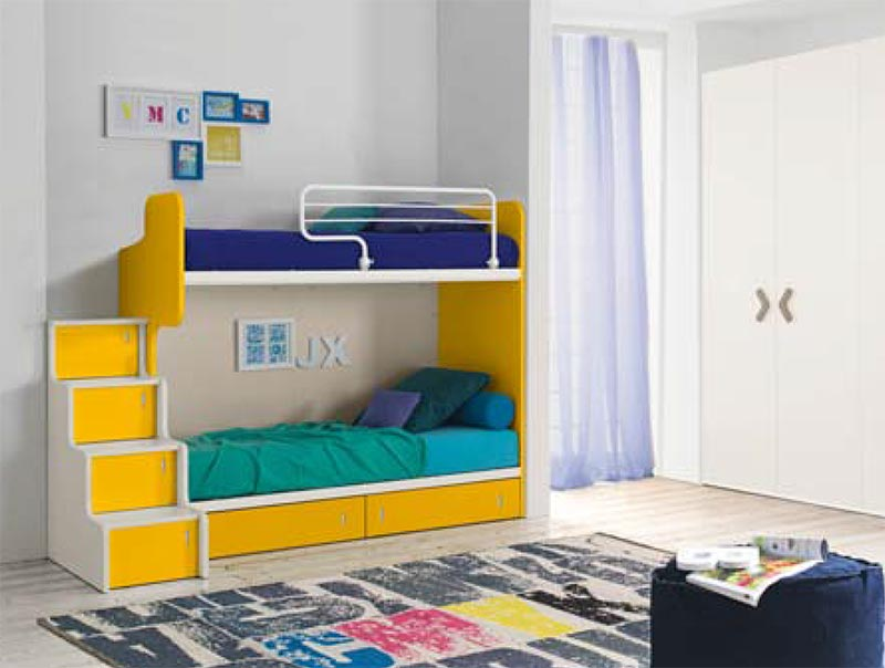 Camerette salvaspazio delca arredamenti for Stanze per ragazzi